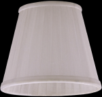 lampshade color organdy ivory Chandeliers