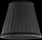 lampshade color organdy black Table Lamps