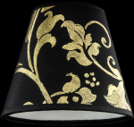 lampshade color pvc gold leaf black Table Lamps