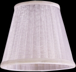 lampshade color organdy white Chandeliers