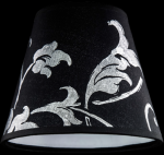 lampshade color pvc silver leaf black Table Lamps