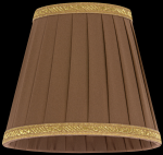 lampshade color fabric mocha Chandeliers