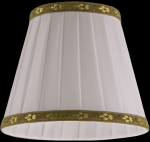 lampshade color fabric ivory Table Lamps