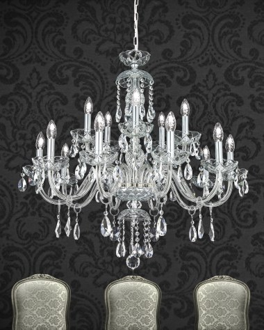 Classic baroque crystal chandelier collection Olympia