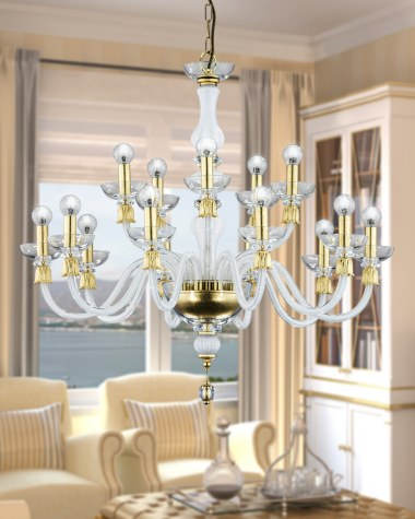 Reina contemporary crystal chandelier