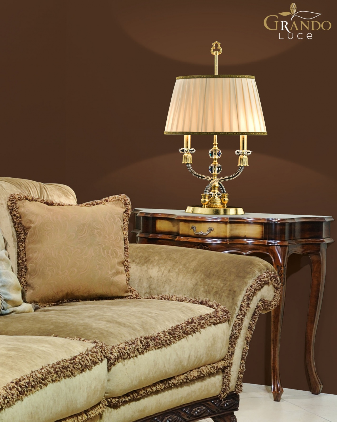 Crystal table lamp for Elizabeth collection