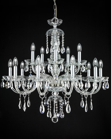 Chandeliers Olympia 104/CH 10+5 chrome crystal chandelier