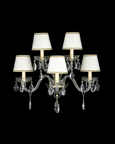 Wall lamps Olympia 104/AP 5 gold leaf crystal wall lamp