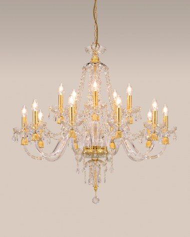 Chandeliers Mirsini 105 / CH 15 / gold leaf / crystal chandelier