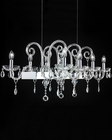 Chandeliers Iokasti 106 / RL 8 / chrome / crystal linear chandelier