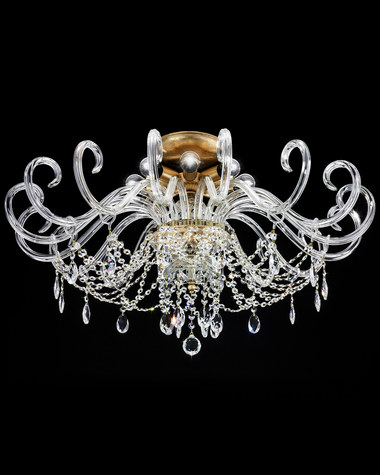 Ceiling lamps Iokasti 106/PLG gold leaf crystal ceiling lamp