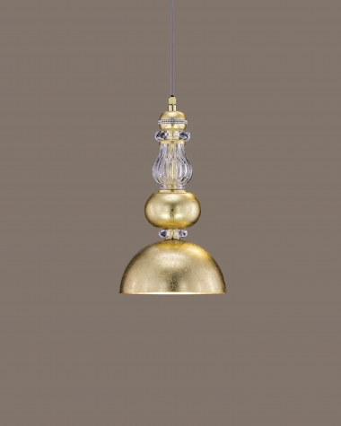 Pendant Lights Juliana 108/S 2 gold leaf crystal pendant light