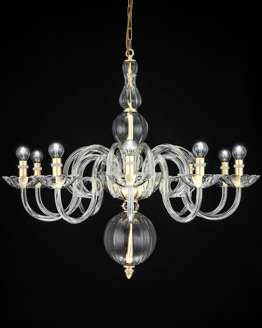 Chandeliers Amanda 118 / CH 10 / gold leaf / crystal chandelier