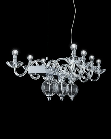 Chandeliers Amanda 118/RL 8 chrome crystal chandelier