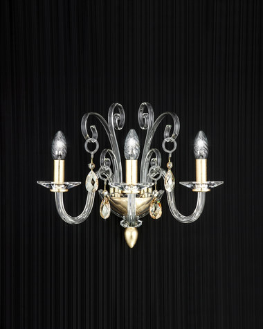 Wall lamps Contessa 120/AP 3 gold leaf crystal wall lamp