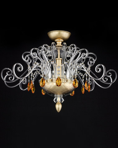 Ceiling lamps Contessa 120/PLM gold leaf crystal ceiling lamp