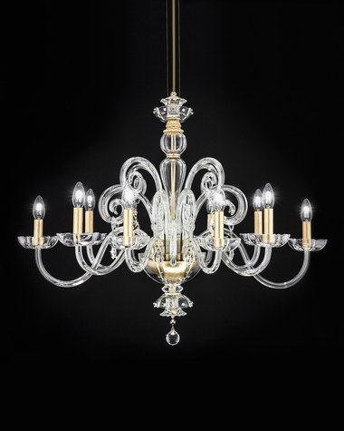 Chandeliers Elizabeth 125/RL 10 gold leaf crystal chandelier