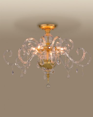 Ceiling lamps Elizabeth 125/PLG gold leaf crystal celling lamp