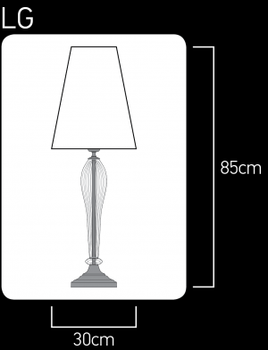 112 / LG / chrome / crystal table lamp / pvc silver leaf black shade Table Lamps Leonie design