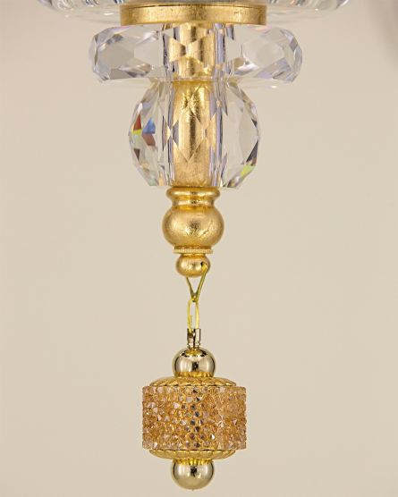 Chandeliers Kassandra 101 / CH 10 / gold leaf / crystal chandelier View 3