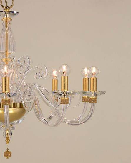Chandeliers Kassandra 101 / CH 10 / gold leaf / crystal chandelier View 5