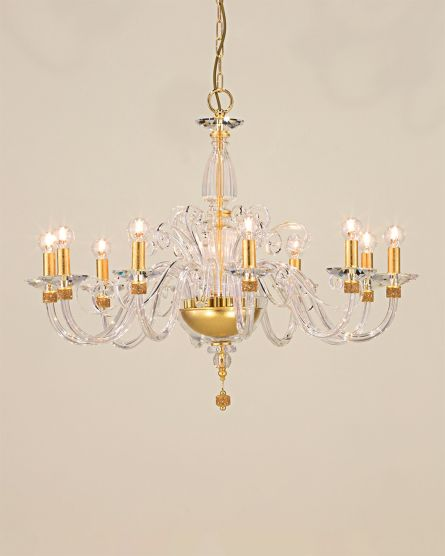 Chandeliers Kassandra 101 / CH 10 / gold leaf / crystal chandelier View 1