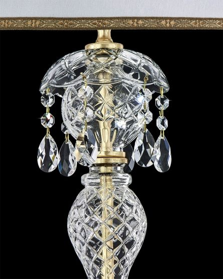 Table lamps Olympia 104/LM gold leaf crystal table lamp/pvc white gold shade View 2
