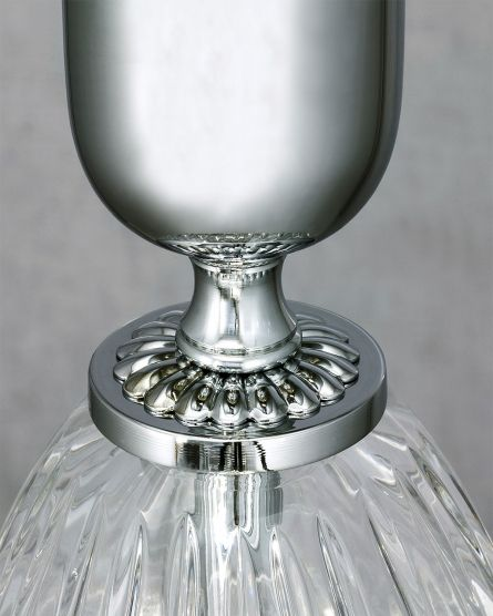 Table lamps Leonie 112/LG chrome crystal table lamp/pvc silver leaf black shade View 3