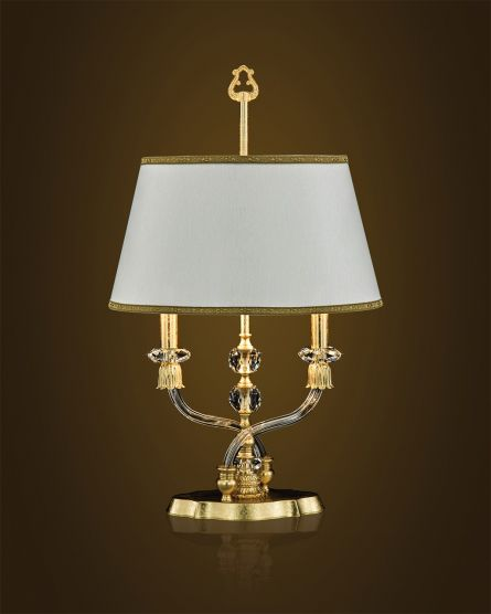 Table lamps Elizabeth 125/LM gold leaf crystal table lamp/fabric beige shade View 2