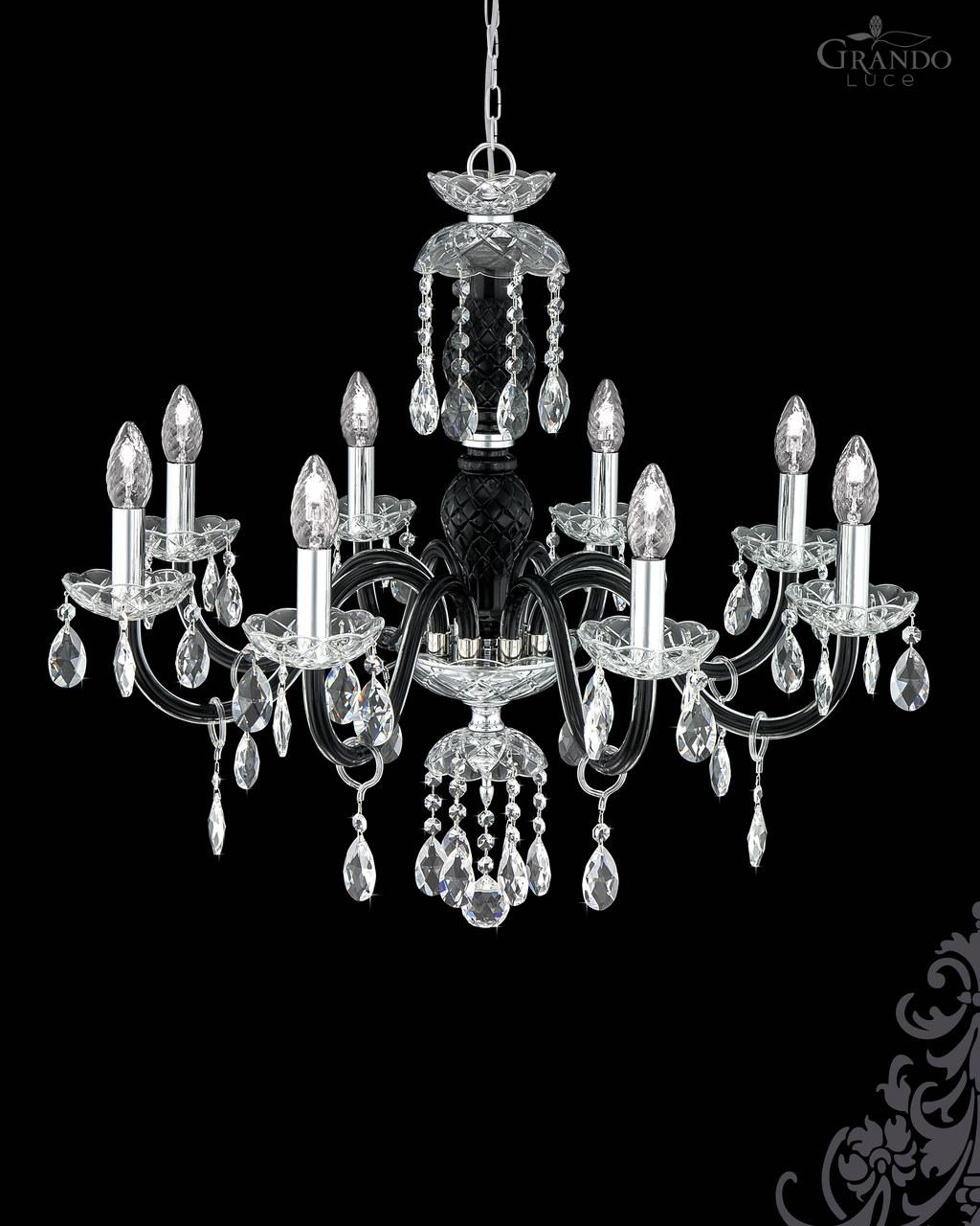 104ch 8 chrome black crystal chandelier with swarovski spectra 104ch 8 chrome black crystal chandelier olympia chandeliers mozeypictures