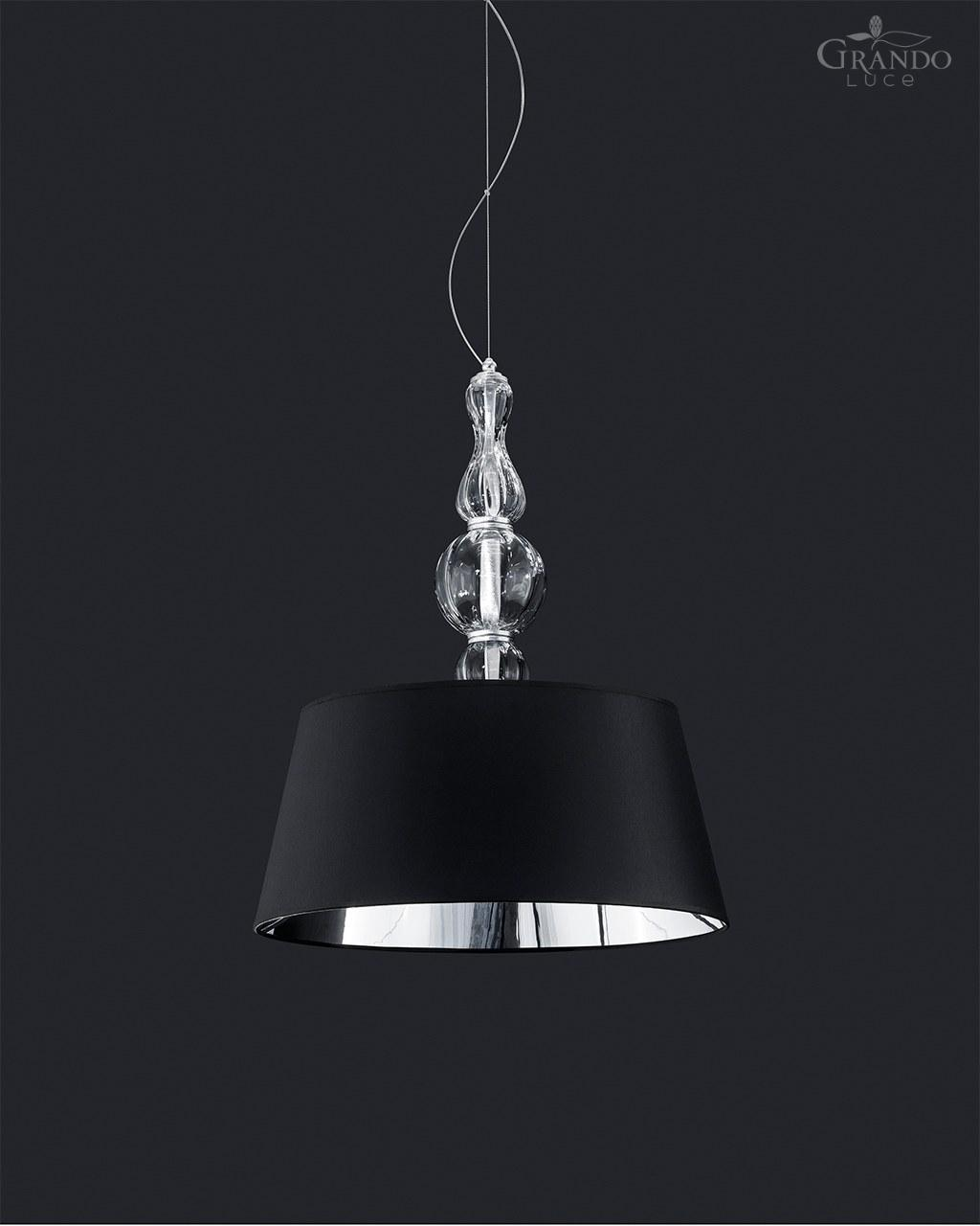 Combination modern pendant light fixtures Shade Modern Pendant Light With Six Lamps Combined Harmony With Pvc Black Chrome Lampshade The Metal Finish Is In Silver Leaf Made Entirely With Handmade Grandoluce 118sg Silver Leaf Modern Pendant Light With Swarovski Elements